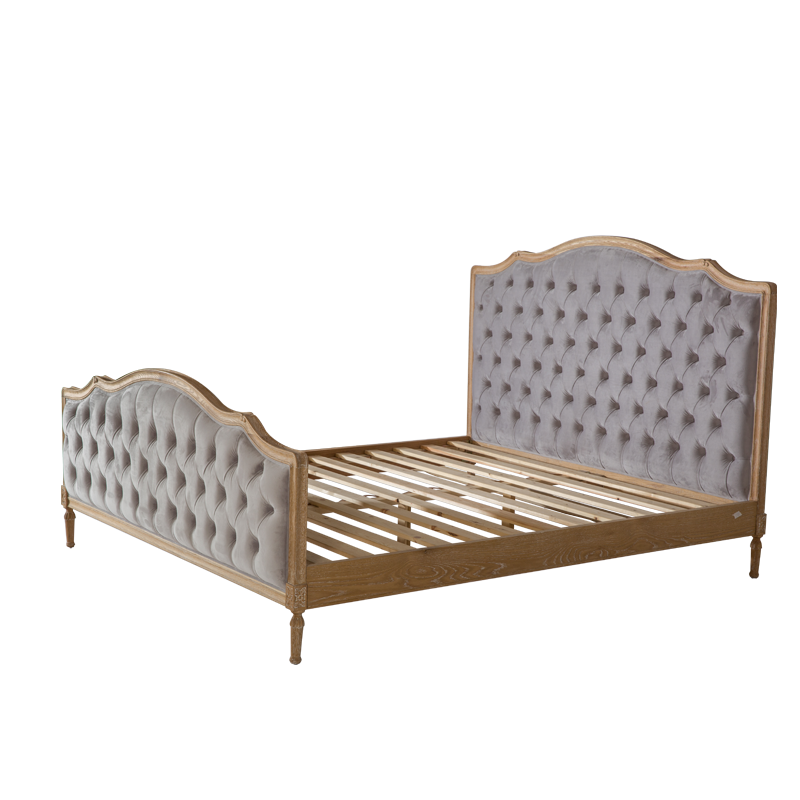 VZB0052,VZB0053,VZB0054 French Style Upholstered Button Tufted Bed