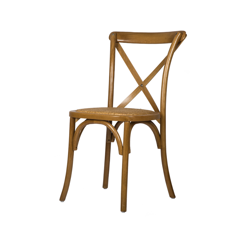 VZC0064 Stackable Cross Back Dining Chair