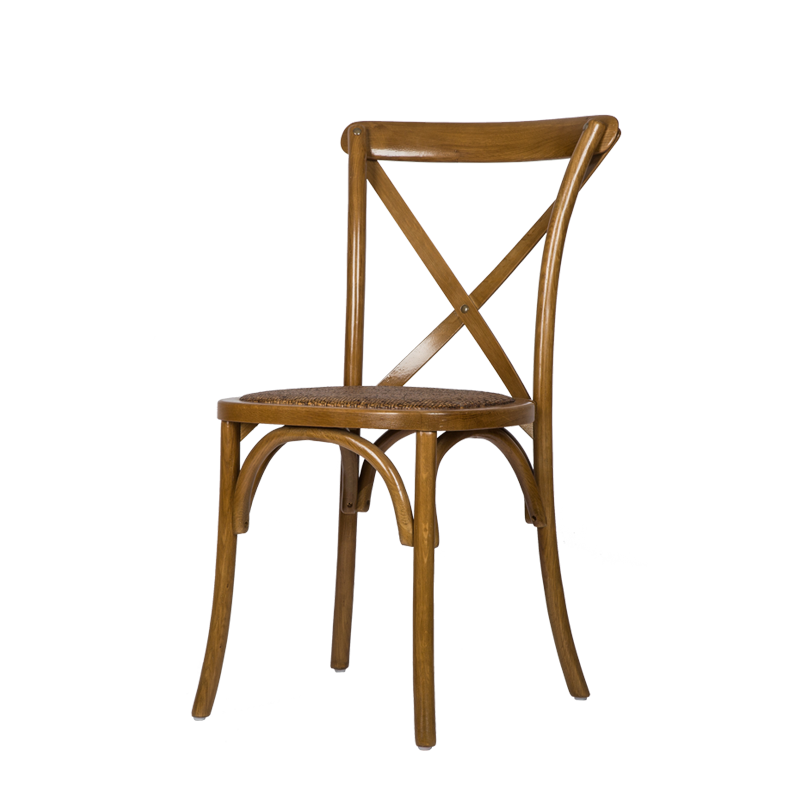 Stackable Cross Back Dining Chair