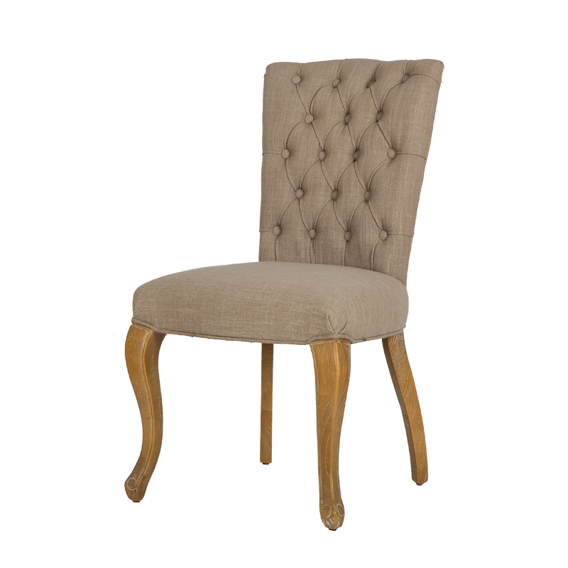 Upholstered Buttoned Dining Side Chair