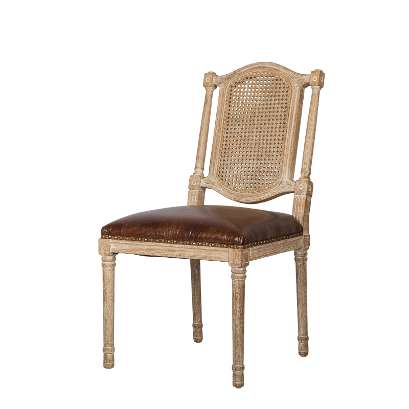 French Country Style Cane Back Dining Side chair