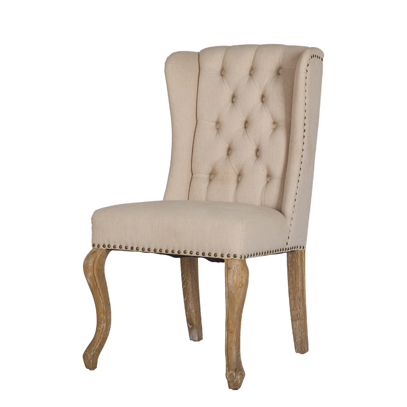 VZC0113 Wing back Tuffed Dining Side Chair